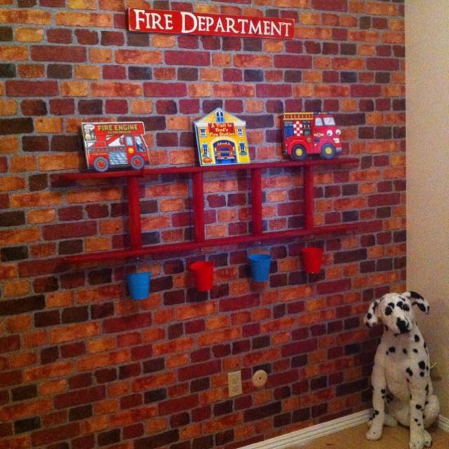 Fire truck room!