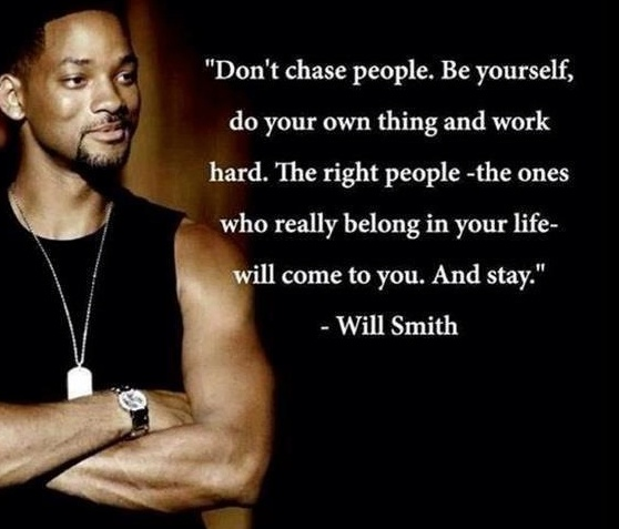 Work hard, be yourself and don't follow others. You we're born a LEADER!