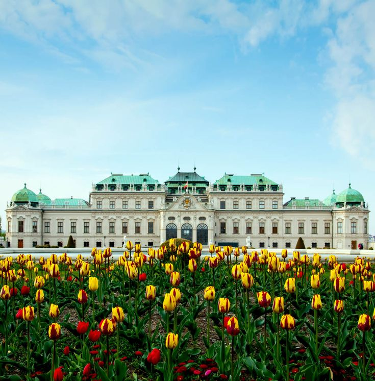 The Famous Belvedere Palace in Vienna Austria