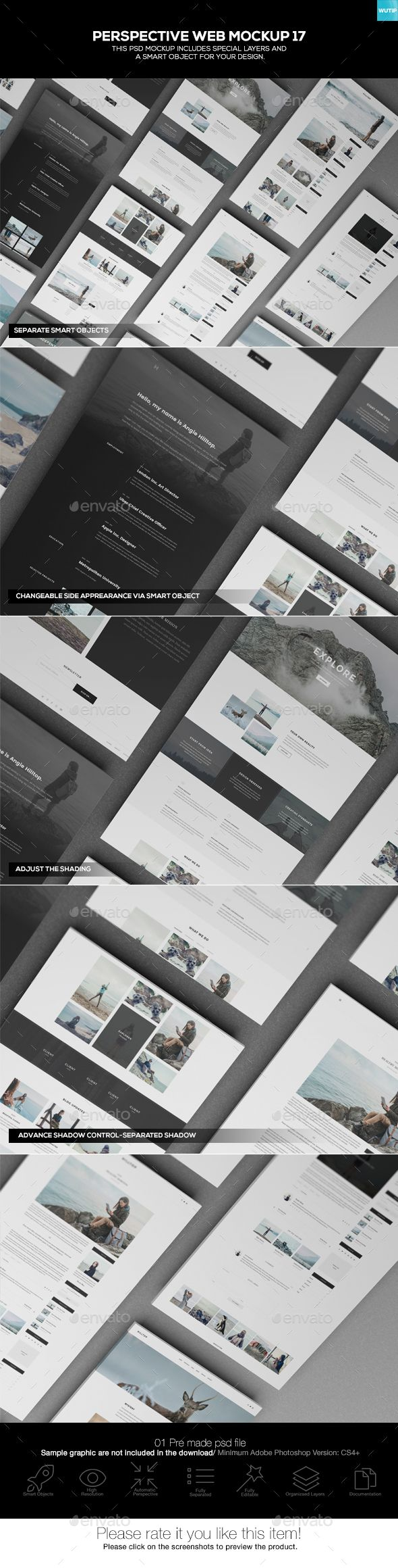 Perspective Web Mockup 17 by Wutip With a view to bringing a super amazing look to your company鈥檚 website and engage the public attention, our web mockup comes out t