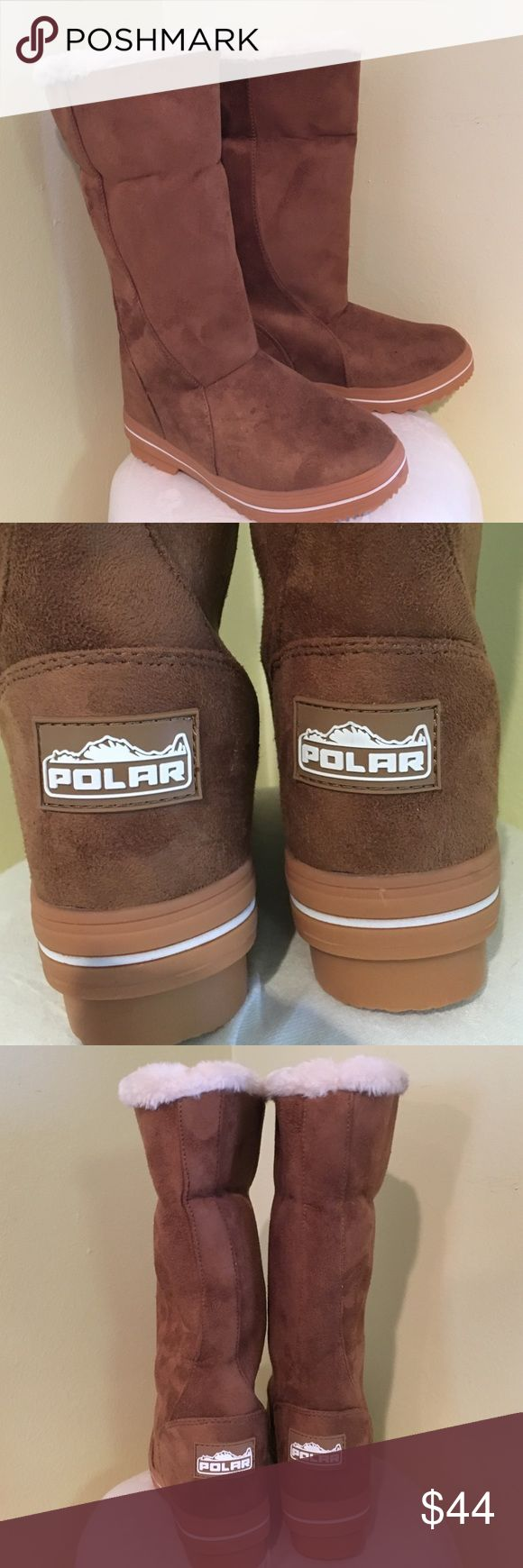 Polar Slip On Boots with faux fur lining 8, 9 New! Made by Polar women's slip on boots with faux fur lining fits true to size. Size 8 and nine available new without box Polar Shoes Winter & Rain Boots