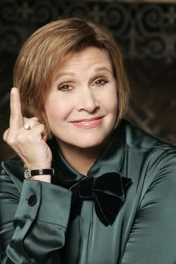 carrie-fisher middle finger