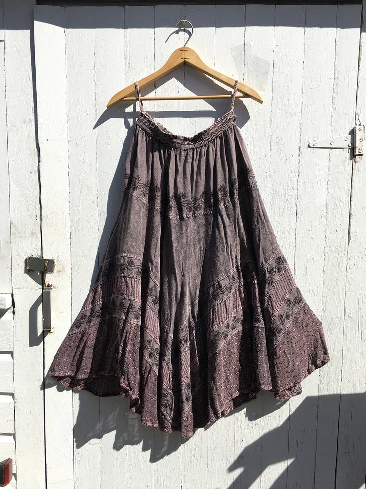 A personal favorite from my Etsy shop https://www.etsy.com/listing/508430748/vinatge-90s-purple-maxi-skirt-size