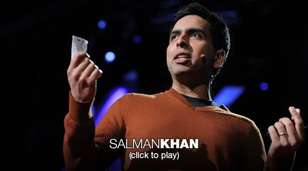 """Salman Khan: Let's use video to reinvent education  Salman Khan talks about how and why he created the remarkable Khan Academy, a carefully structured series of educational videos offering complete curricula in math and, now, other subjects. He shows the power of interactive exercises, and calls for teachers to consider flipping the traditional classroom script -- give students video lectures to watch at home, and do """"homework"""" in the classroom with the teacher available to help."""