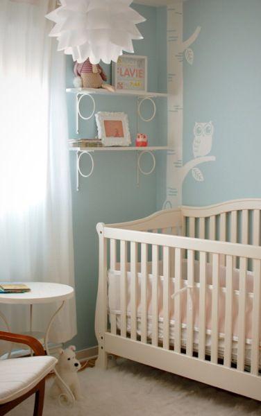"""Site """"Quarto de Bebe.Net"""" - Decor por temas.  Quarto de bebê feminino azul corujinhas"""