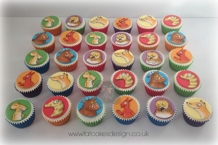 Hand painted Gruffalo cupcakes