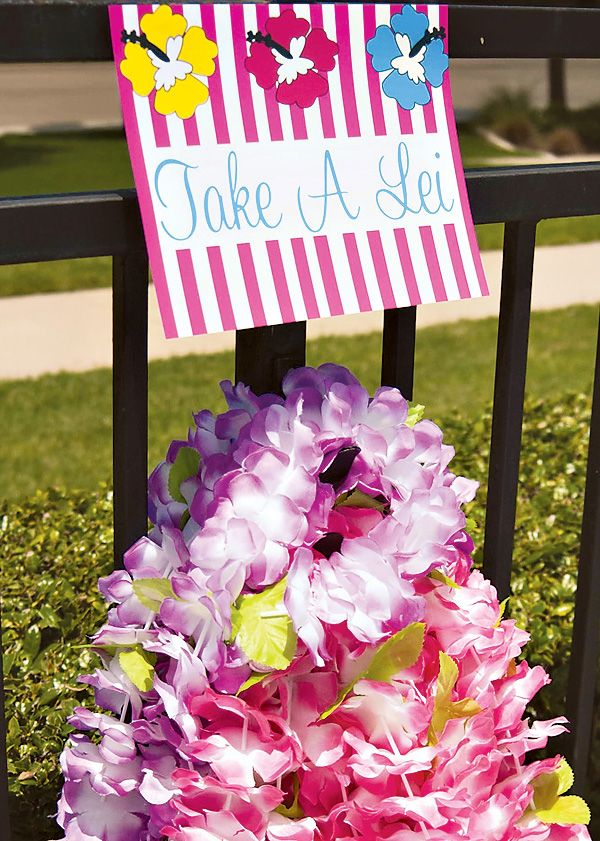 Bright & Cheerful Island Style Luau Party. Really like this. As everyone should have one