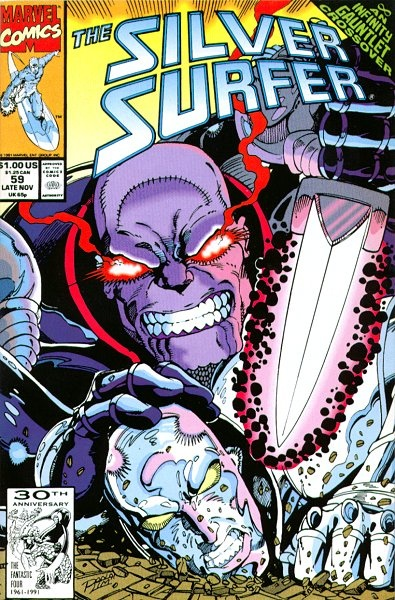 Ron Lim artist of Silver Surfer 59  featuring Thanos  Infinity Gauntlet Crossover