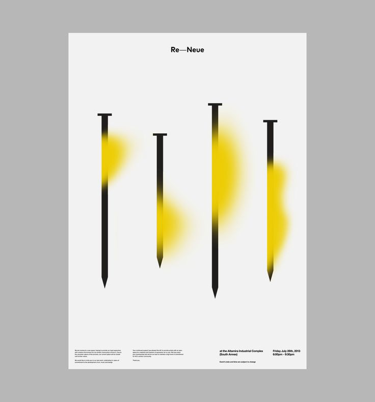 Posters for AIC: Re-Neue. Design by D. Kim
