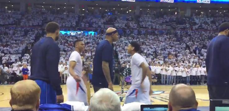 Charlie Villanueva tried to ruin Russell Westbrook and Cameron Payne's pregame routine