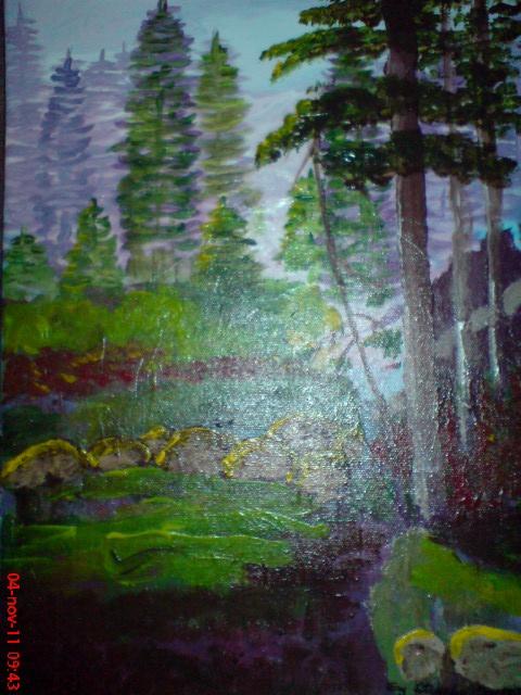"""acryl on canvas  """"forest for Nanna"""""""