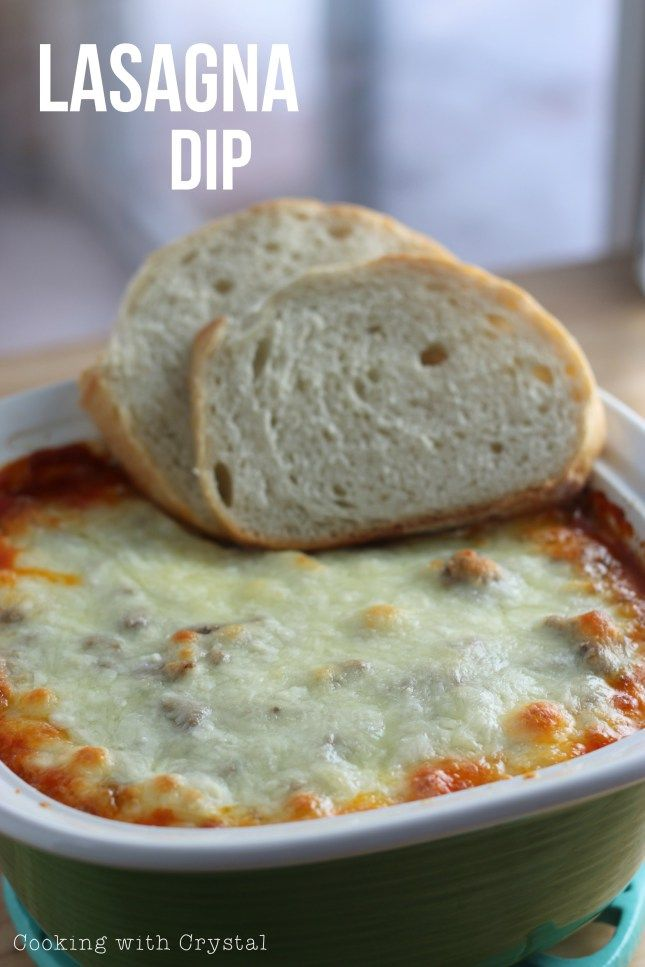 Lasagna Dip! Sooo quick and easy to make instead of a WHOLE lasagna!