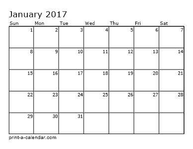 Make your own 2016, 2017, or 2018 printable calendar PDF.