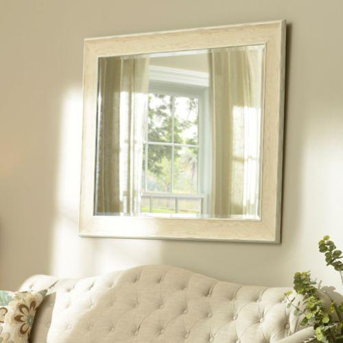 Dockside White Framed Mirror 37x47 In