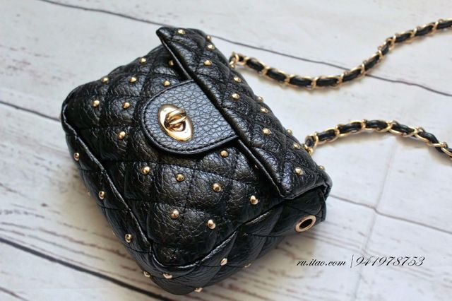 2016 Women Bag Fashion Women Messenger Bags Rivet Chain Shoulder Bag High Quality PU Leather Crossbody Quiled Crown bags aliexpress.com