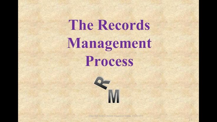 Basics of Records Management, Part 1