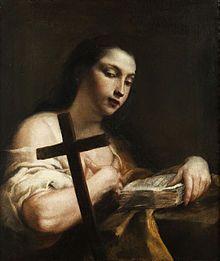 María Magdalena - Wikipedia, la enciclopedia libre    Giuseppe Maria Crespi (14 de marzo de 1665 – 16 de julio de 1747), apodado Lo Spagnuolo («El Español»), María Magdalena como Santa Rosalía, alrededor de 1720-1730,