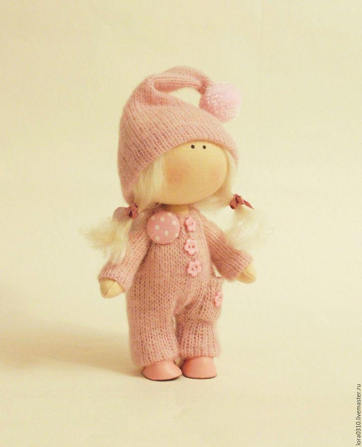 Купить Ангелочек - бледно-розовый, ангелочек, ангел-хранитель, интерьерная кукла, текстильная кукла
