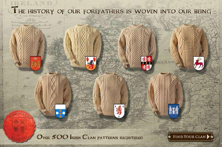 Authentic Irish Sweaters by Clanarans