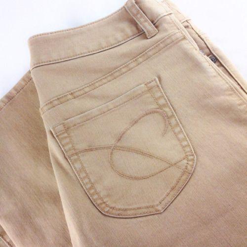 Chico's Platinum Denim Ultimate Fit Flare Ladies Women's Tan Jeans Size 0.5 #Chicos #Flare
