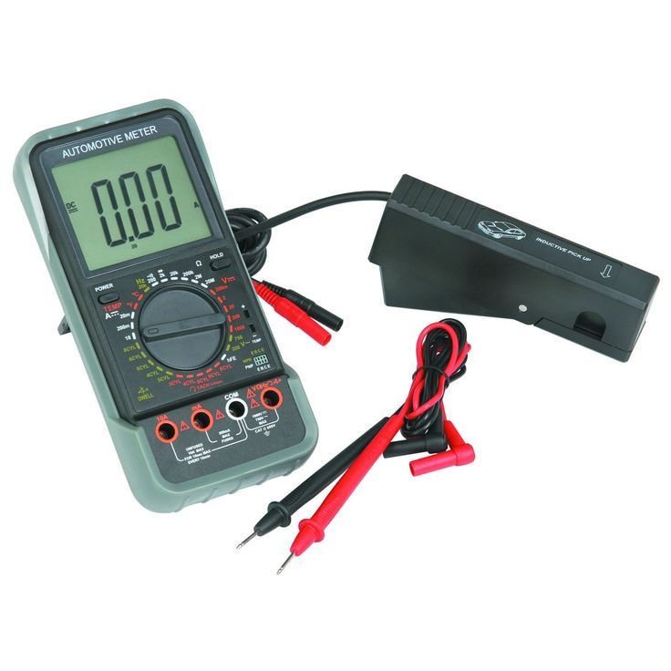 Cen Tech Clamp Meter : Lcd automotive multimeter with tachometer kit