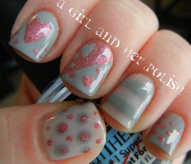 25 Lovely Valentine's Day Inspired Nail Art Ideas