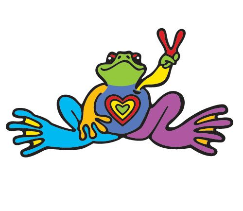 Tattoos Frog Peace Colorful