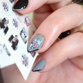 Lanie Buck: DIY Manicure- Water Transfer Halloween Sugar Skull...