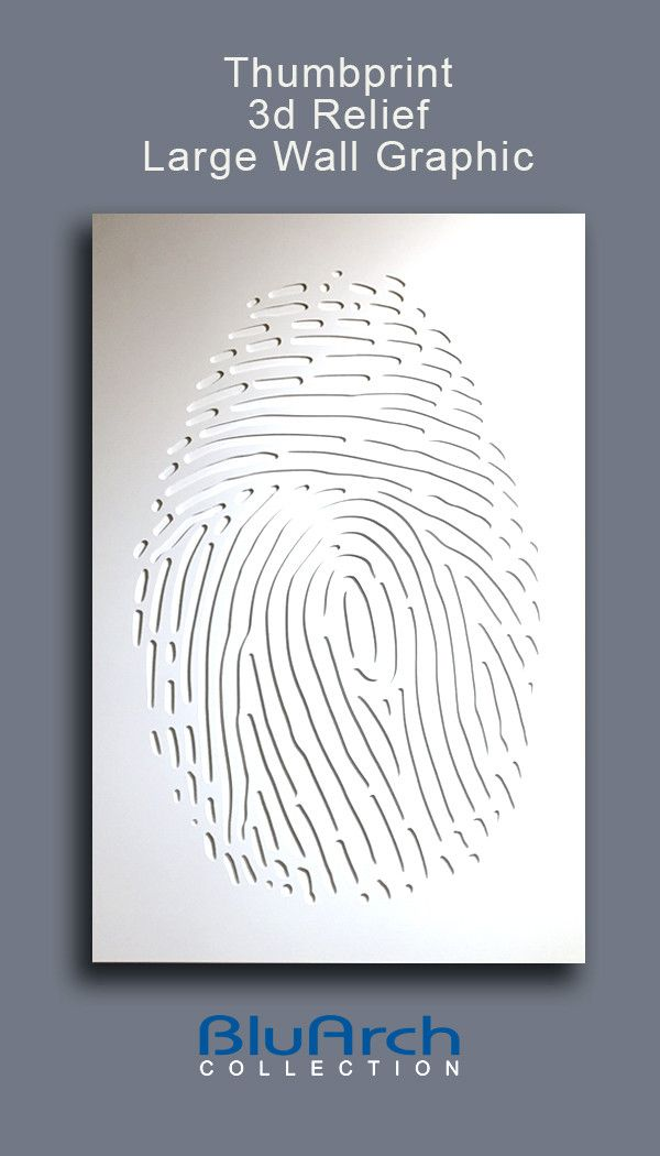 Thumbprint Relief Graphic | BluArch Collection