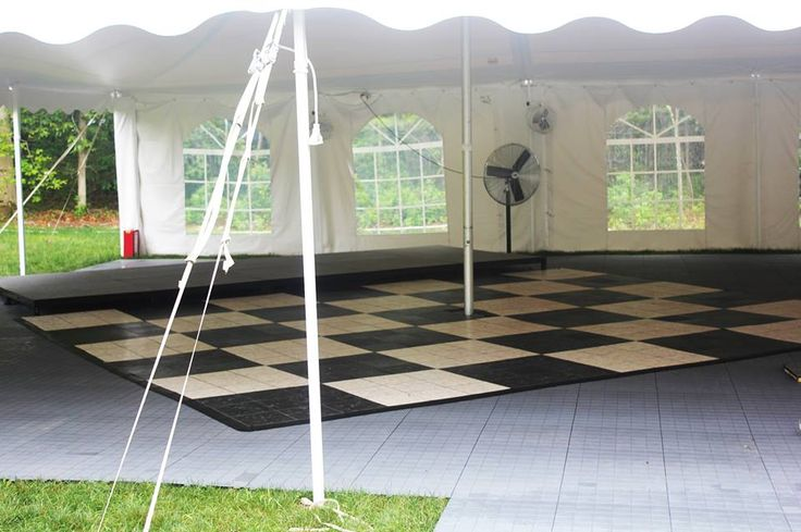 Our black and white floor is an attractive marble replica. The floor comes in 3' x 3' sections. When adding sections, you may choose a single color or alternate between black and white checker.