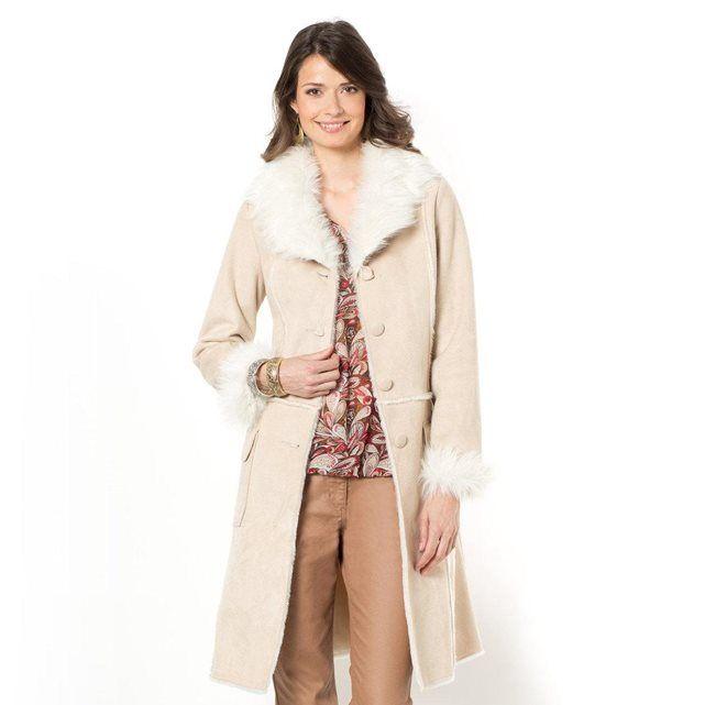 Manteau imitation peau lainée ANNE WEYBURN