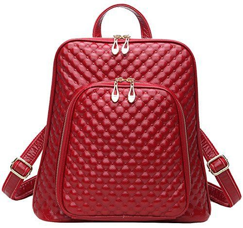 New Trending Backpacks: Coolcy New Fashion Womens Genuine Leather Backpack Casual Shoulder Bag (Red). Coolcy New Fashion Women's Genuine Leather Backpack Casual Shoulder Bag (Red)   Special Offer: $67.00      311 Reviews This backpack perfectly fits your iPad/Magazine.Dimensions:10″L x 4″W x 13″HAdjustable shoulder strapsZipper closureInterior cell phone pocket and...