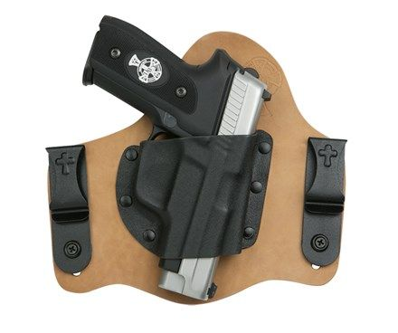 """CrossBreed® Holsters Super Tuck Deluxe IWB Concealed Carry Holster.  For Springfield Armory 5"""".  Natural Horsehide,  Right Draw.  Standard Cut"""