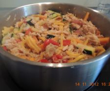 DONE :) Chicken stir fry with hokkien noodles ~ extremely quick meal if you use frozen veg! Great nights you're exhausted