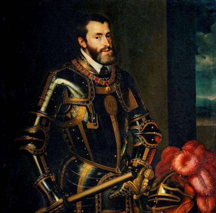 Carlos I de España y V de Alemania. Retrato de Tizziano. En España es el que dictaba la moda. Hijo de Felipe de Habsburgo ( el Hermoso) y de Juana de Castilla ( La Loca) Carlos fue Rey de España desde 1516 a 1556 y de Alemania desde el 1519 al 1558.