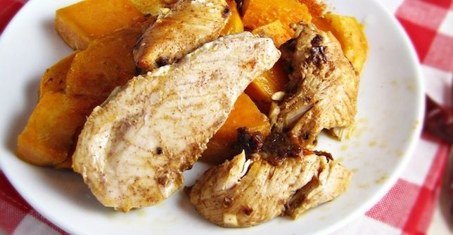 Chipotle Honey Chicken Tenders and Sweet Potatoes