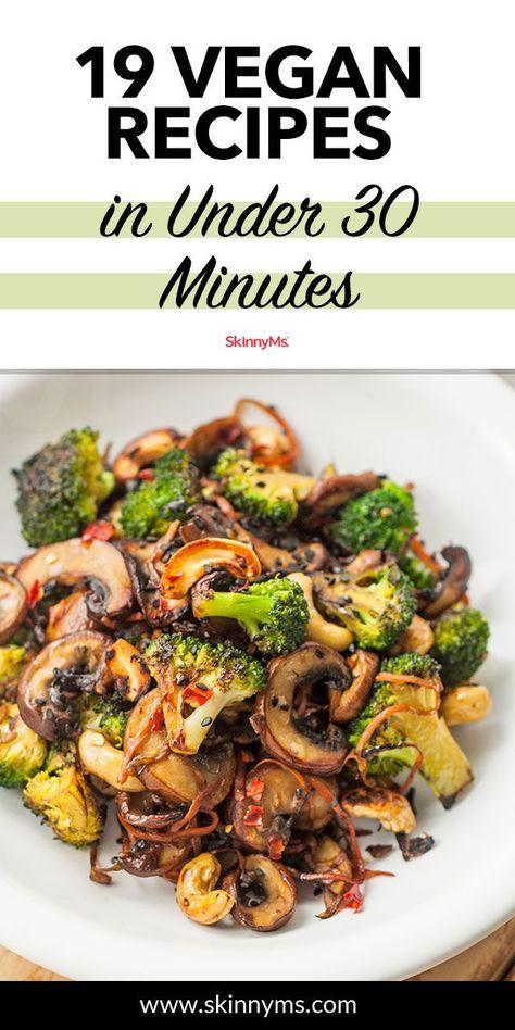 19 recetas de cena vegana en menos de 30 minutos