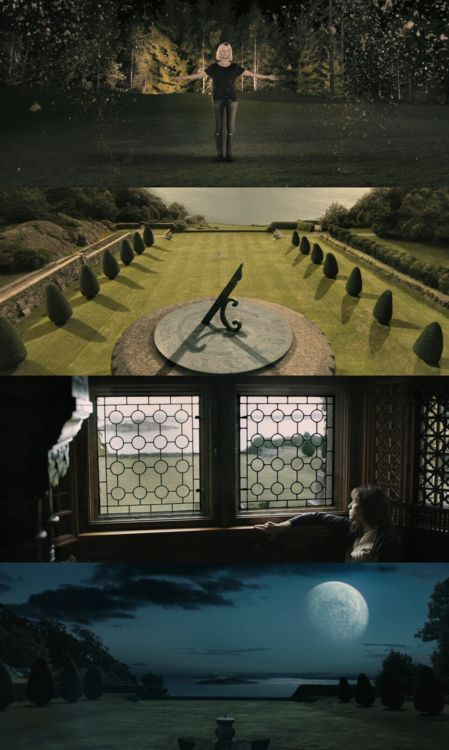 MELANCHOLIA | As newlyweds Justine and Michael celebrate their wedding at a sumptuous party—and Justine's pervasive depression escalates—a rogue planet threatens to collide with Earth. A 2011 art film/apocalyptic drama written and directed by Lars von Trier, starring Kirsten Dunst, Charlotte Gainsbourg, Alexander Skarsgård and Kiefer Sutherland.
