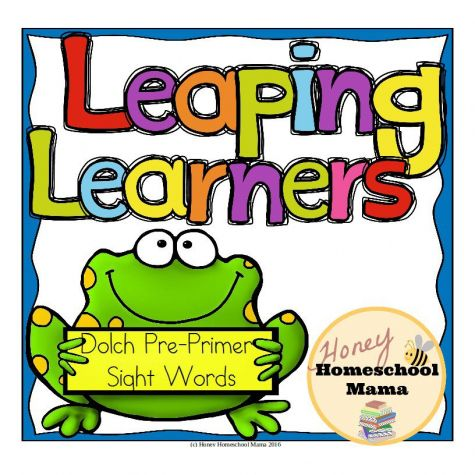"Leaping Learners - Frog Themed Dolch Pre-Primer Sight Word File Folder Games Set  - This is a set of file folder games for practicing the Dolch Pre-Primer Sight Words. The frog theme is a ton of fun as kids ""hop"" from sight word to sight word! (aff link)"