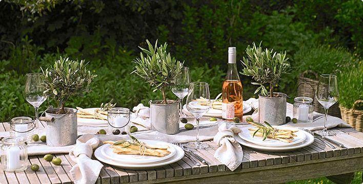 tischdeko mediterran gardenparty pinterest kochen und suche. Black Bedroom Furniture Sets. Home Design Ideas
