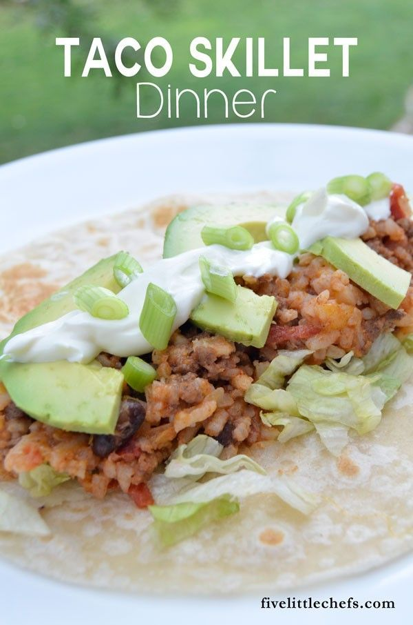 ... Skillet Dinner is an easy dinner recipes to compile as a burrito to