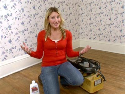 DIYNetwork.com has step-by-step instructions on how to hang wallpaper on a flat wall and around windows and doors.