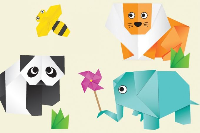 Origami Vinyl Stickers by BOYS AND GIRLS