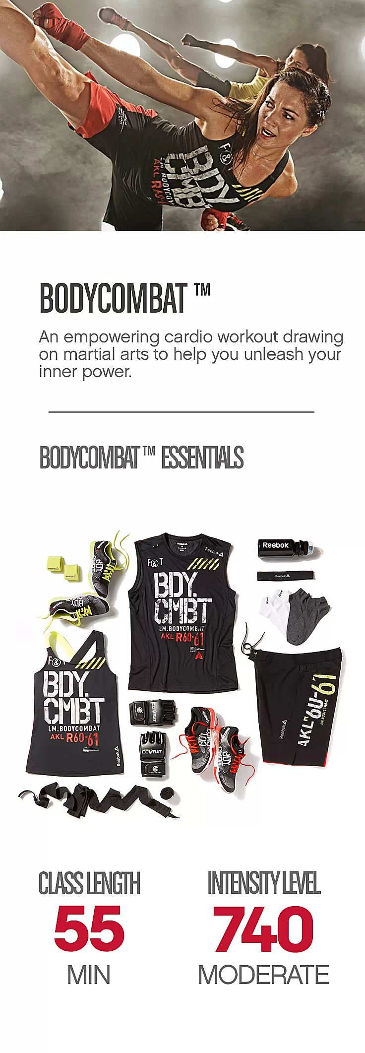 Get the 101 on what you need to take on a Les Mills BODYCOMBAT™ class.