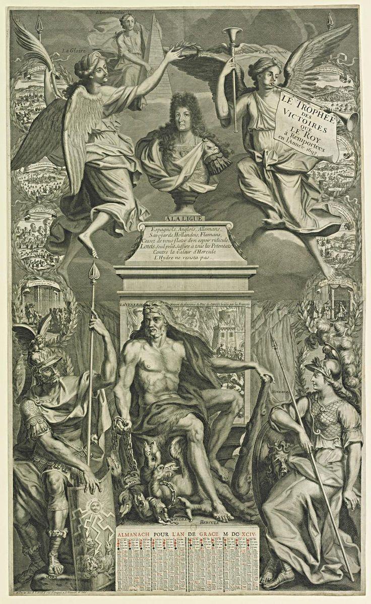 Le trophée des victoires que le roy à Remportées en l'Année 1693