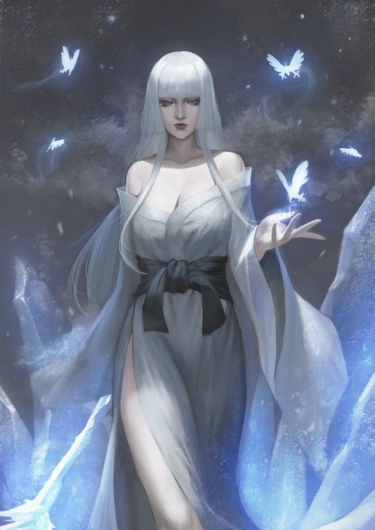 Yuki-Onna and Usura-Hicho by phamoz : Nioh
