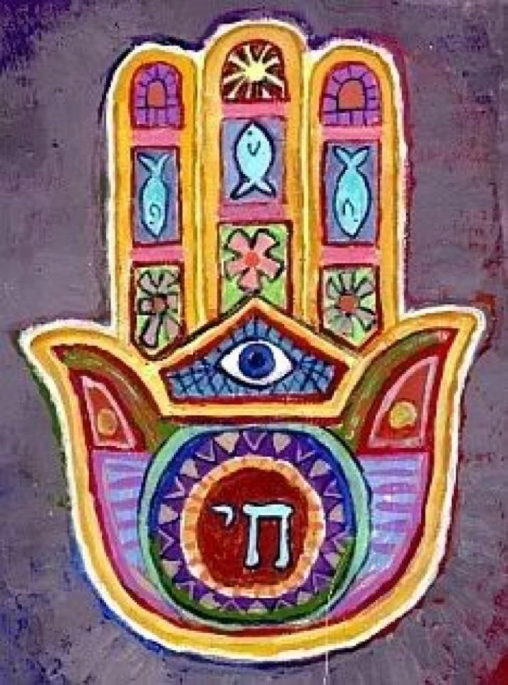 Hamsa. Hamsa's with the fish symbol are the most powerful.