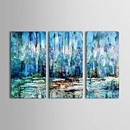 Hand Painted Oil Painting Abstract Wetland Wall D... – AUD $ 146.39