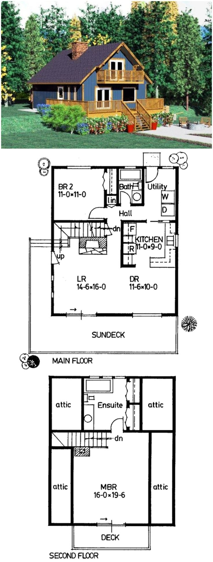 cabin house plan 90847 - Small Cottage Plans 2