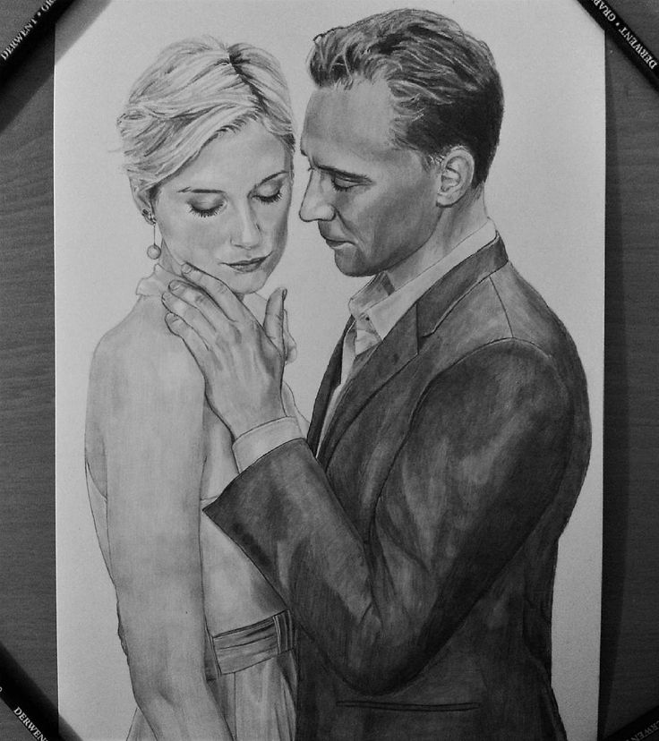 "jacolinemaes: ""I finally finished my drawing of Tom Hiddleston and Elizabeth Debicki from @bbc 's The Night Manager. Really happy with it! My next drawing will be a little less difficult though and just a face."" https://www.instagram.com/p/BMyGHRZjBN-/"